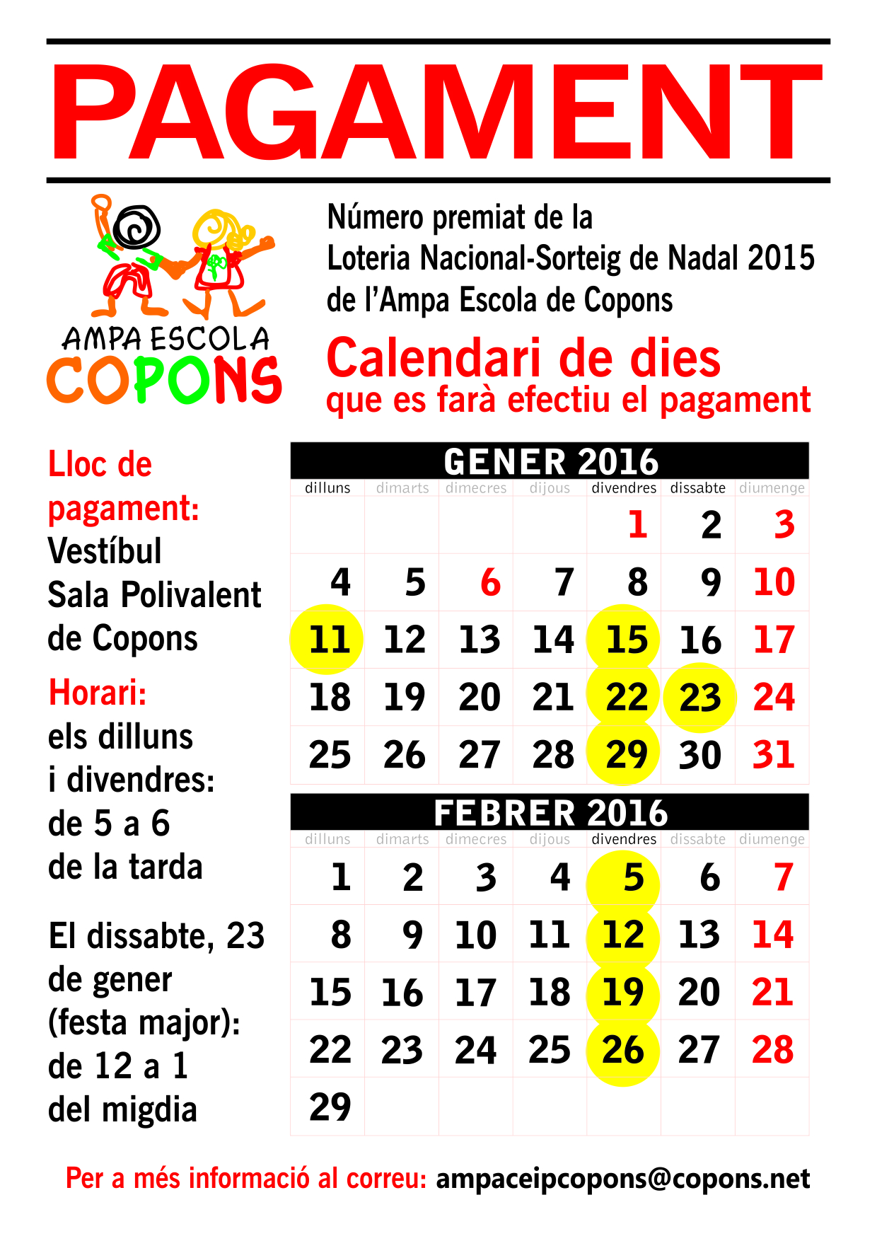 CARTELL LOTERIA 2015
